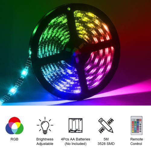 Couleur multi de bande lumière d'USB LED RVB 5m à piles LD2330