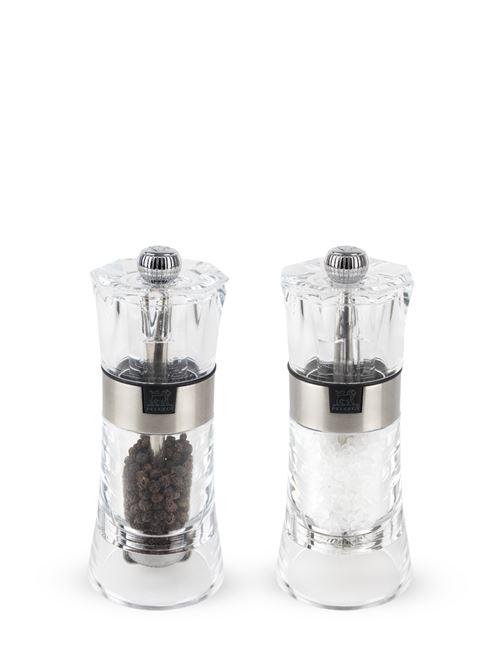 Peugeot - Duo de moulins à poivre et à sel manuels en acryl 14 cm