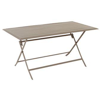 Table Aluminium Azua 6 Places Taupe Hespéride - Mobilier de Jardin ...
