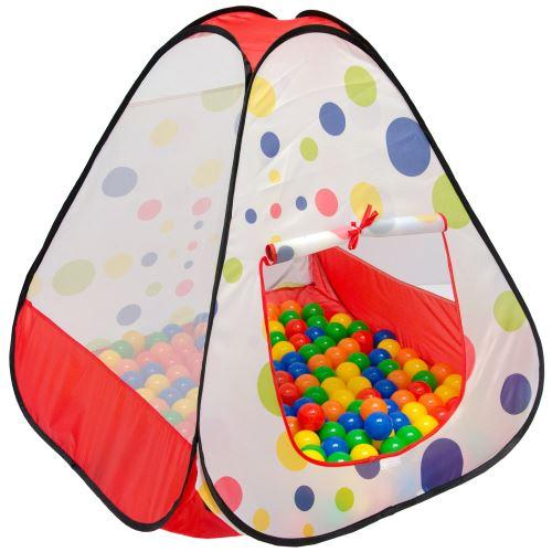 LittleTom Tente de jardin à boules 90x90x90cm jouet pour jeunes enfants à Pois
