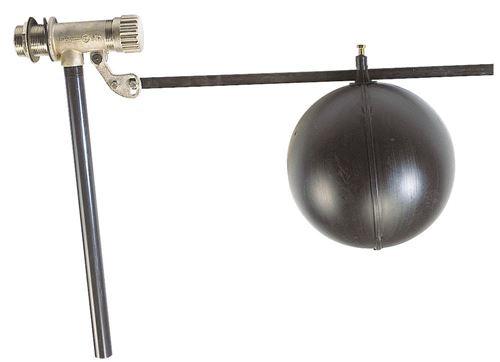 Robinet à flotteur pour réserve d'eau - RF 1/2 - Flotteur Ø 100 - Débit maxi : 1,5 m3/h