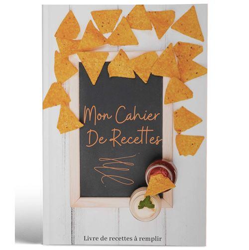 Mon cahier de recettes | Livre de recettes à remplir | Design Apero