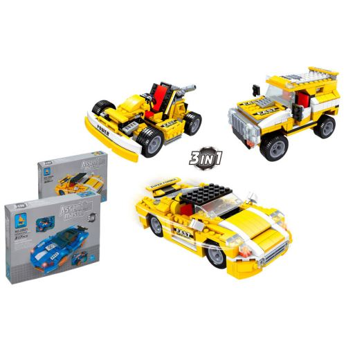 AUSINI - Assembling master Car 3 in 1 JEU DE CONSTRUCTION VOITURE
