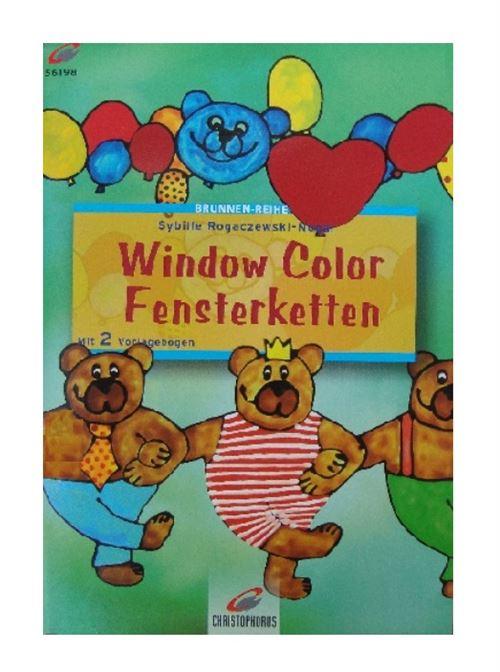Livre motif window color les ours - modele peinture fenetre (langue allemand)