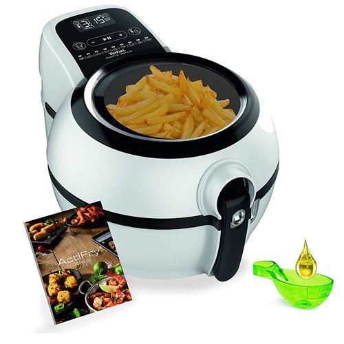 Tefal Actifry Genius XL FZ7600 Hot Air Fryer Friteuse en acier inoxydable Noir 1,2 l 1 350 W 60 min