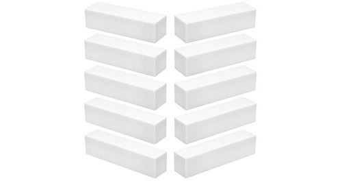 Lot 10 blocs polissoir 4 faces 240/240 blanc