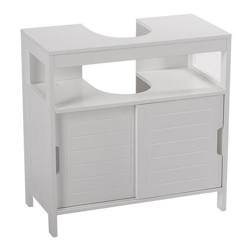 Meuble sous lavabo design Aqua - L. 60 x H. 60 cm - Blanc