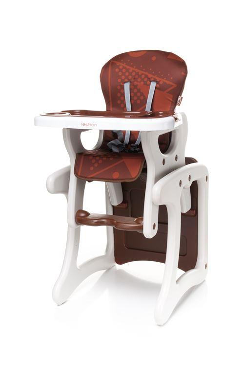 Confortable chaise haute / table enfant FASHI 2en1 - max 15kg - marron