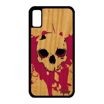 coque iphone x silicone tete de mort