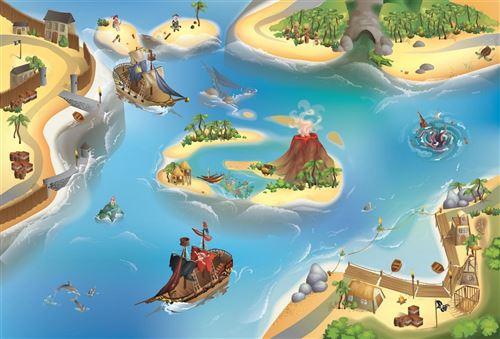 House Of Kids - Tapis de jeu intérieur Pirate 150x100cm