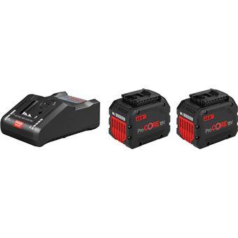 BOSCH Pack 2 batteries 18V 5Ah + Chargeur GAL1880 CV