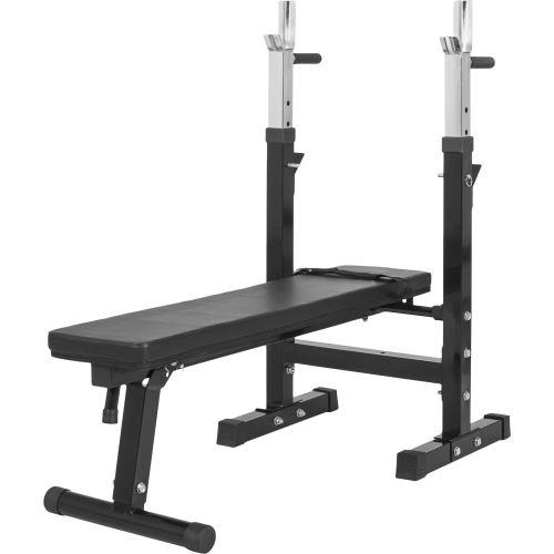 Gorilla Sports Pack De Puissance 30 éléments Banc De Musculation Barre De Traction Poids Libres
