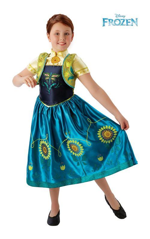 La Reine des Neiges Déguisement Anna 5-6 ans. Robe + Gilet