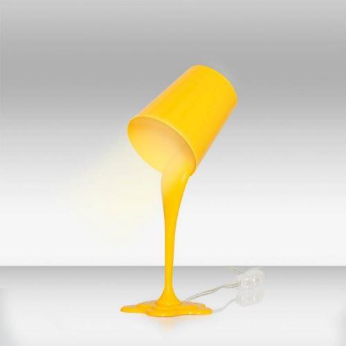 Lampe De Chevet En Plastica Jaune Luminaire Design Pour Bureau Chambre Table De Chevet Table Secretaire