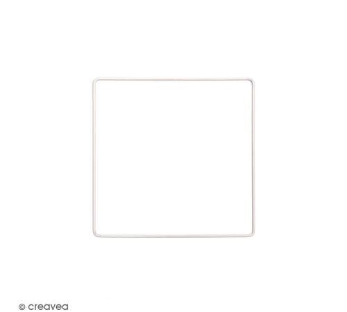 Anneau en métal carré - blanc - 15 cm