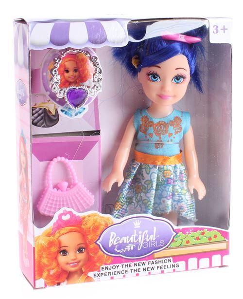 LG-Imports poupée Beautiful Girladolescente avec accessoires 16 cm violet