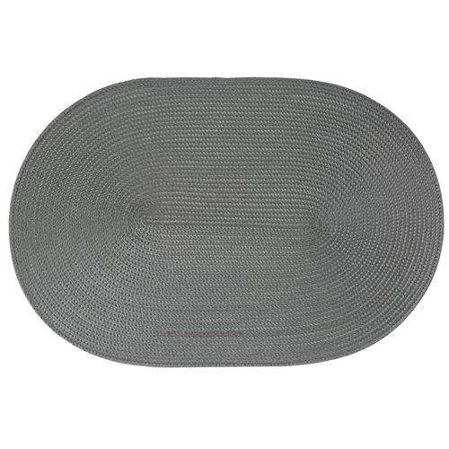 Set de table tressé Ovale - 44 x 29 cm - Gris