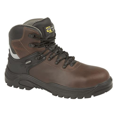 Grafters Transporteur - Chaussures de sécurité à cheville rembourrée - Homme (41 FR) (Marron foncé) - UTDF1309