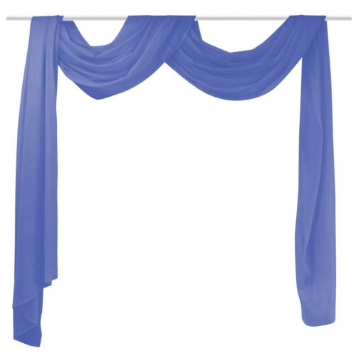 vidaXL Rideau Voile 140*600 cm Bleu royal