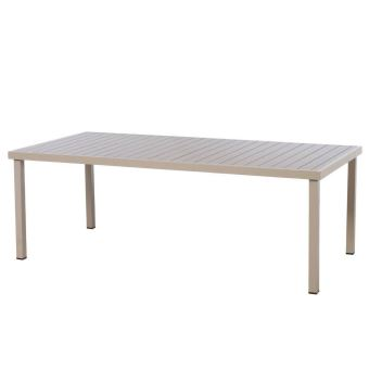 de jardin places Piazza rectangulaire Aluminium Table 8 4RLj5A