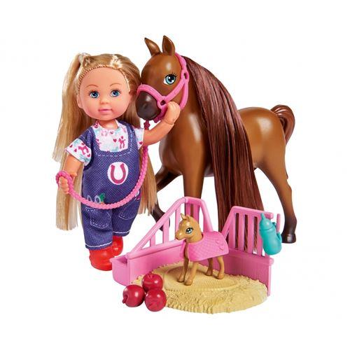 Simba Toys 105733487 - Evi Love Docteur Evi Maman de cheval