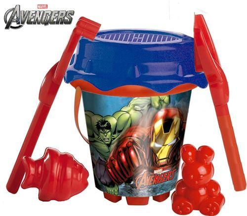 Avengers Set Plage seau 18 cm + arrosoir + accessoires
