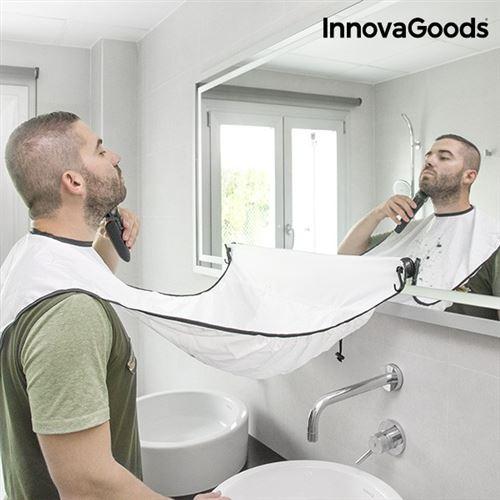 Bavoir de rasage avec ventouses en polyester - Tablier à barbe raser la barbe eviter les poils de partout