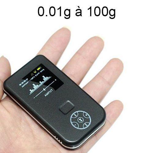 Mini Balance Digitale Haute Précision Balance De Cuisine De Poche 0.01g à 100g - Yonis