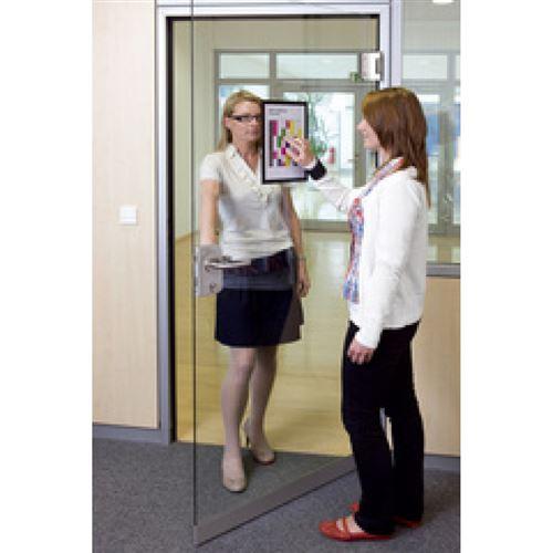 durable durable cadre d'affichage magnétique duraframe, a4, rouge noir
