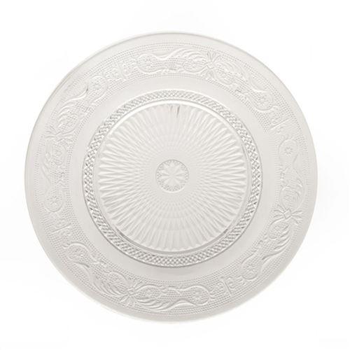 Assiette plate transparente Renaissance - Diam. 29 cm