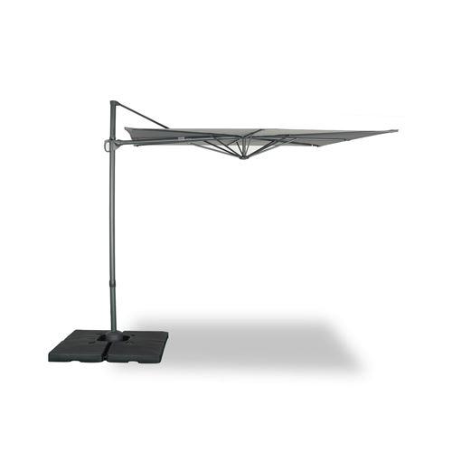 Alice's Garden-Parasol déporté carré 250 x 250 cm – deauville – gris – parasol exporté, inclinable, rabattable et rotatif à 360°