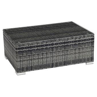 table basse avec coffre en résine tressée ibiza luxe - florida ...