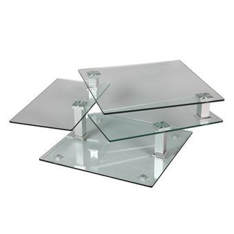 Table Basse En Verre Carree Quadra L 80 X L 80 X H 42 Achat
