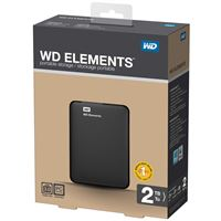 Harde schijf WD Elements, 2 Tb, Zwart