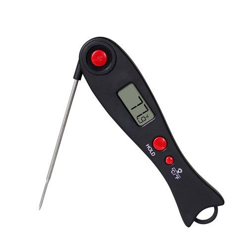 Thermomètre de cuisine EN2052 de cuisine pliable 2pcs -Noir + rouge