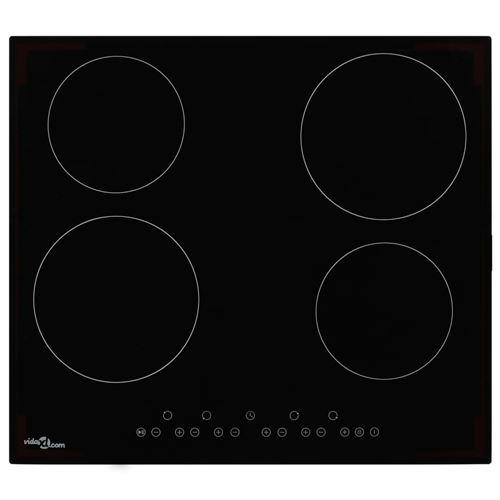vidaXL Plaque de cuisson Céramique 4 brûleurs Contrôle tactile 6000 W