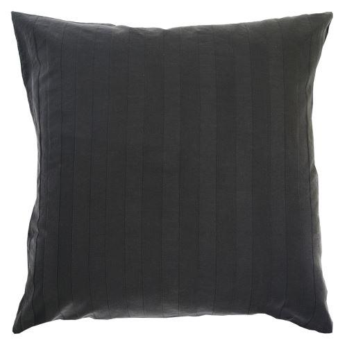 Taie d'oreiller Bernie Stonewashed carbone 80 x 80 cm Vivaraise