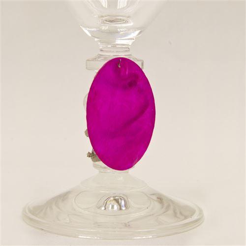 Lot de 60 Disques aspect coquillage coloris Fuschia - Diam : 4 cm