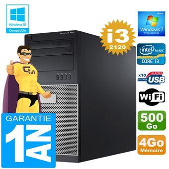 25 49 Sur Pc Tour Dell 7010 Core I3 2120 Ram 4go Disque 500 Go Wifi