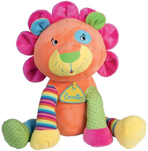 Peluche lion multicolore