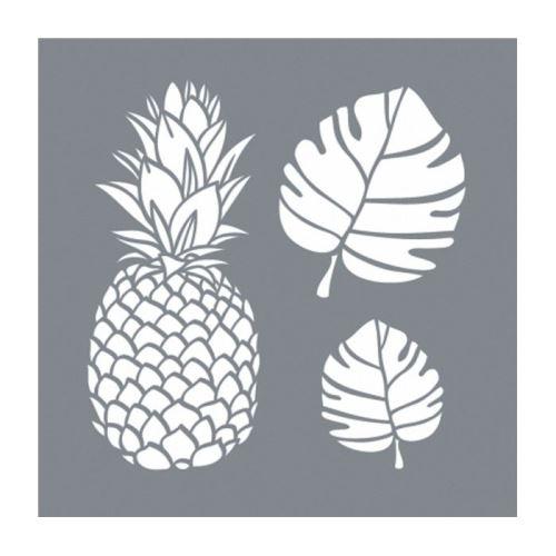 Pochoir tropical - 2 plaques