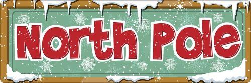 Plaque murale en métal North Pole 30.1 x 10.1cm