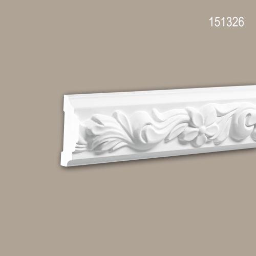 Cimaise 151326 Profhome Moulure décorative style Rococo-Baroque blanc 2 m