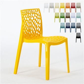 18 sur chaise en polypropyl ne empilable salle manger. Black Bedroom Furniture Sets. Home Design Ideas