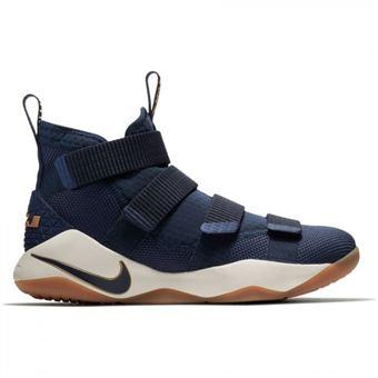 sports shoes 1838a 084c7 Chaussure de Basket-Ball Nike Lebron Soldier XI Navy pour homme Pointure -  40 - Chaussures et chaussons de sport - Achat   prix   fnac