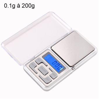 Mini Balance Digitale Haute Précision Balance De Cuisine De Poche 01g à 200g Yonis