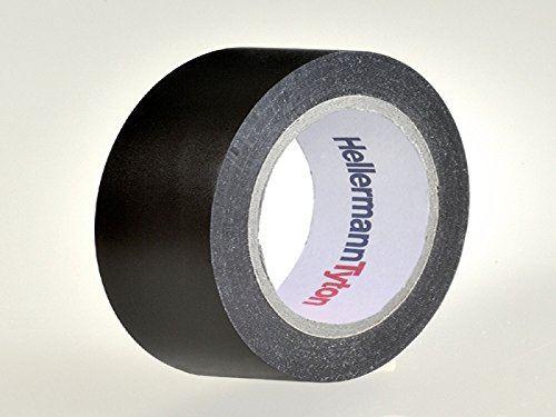 Hellermann Tyton htape-flex15 – 15 x 10 intérieur et extérieur 10 m PVC Noir Ruban adhésif
