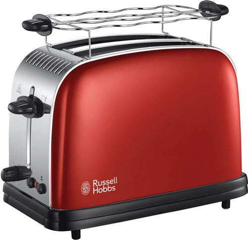 Russell Hobbs Colours Plus 23330-56 - Grille-pain - 2 tranche - 2 Emplacements - rouge flamme