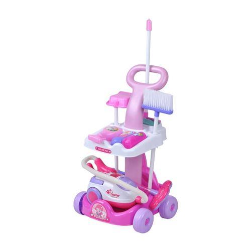 Ensemble jeux chariot nettoyage pour enfant avec aspirateur + Accessoires