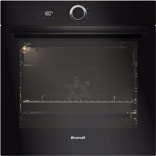 Brandt BXP6332B - Four - intégrable - niche - largeur : 56 cm - profondeur : 55 cm - hauteur : 58.5 cm - avec système auto-nettoyant - noir